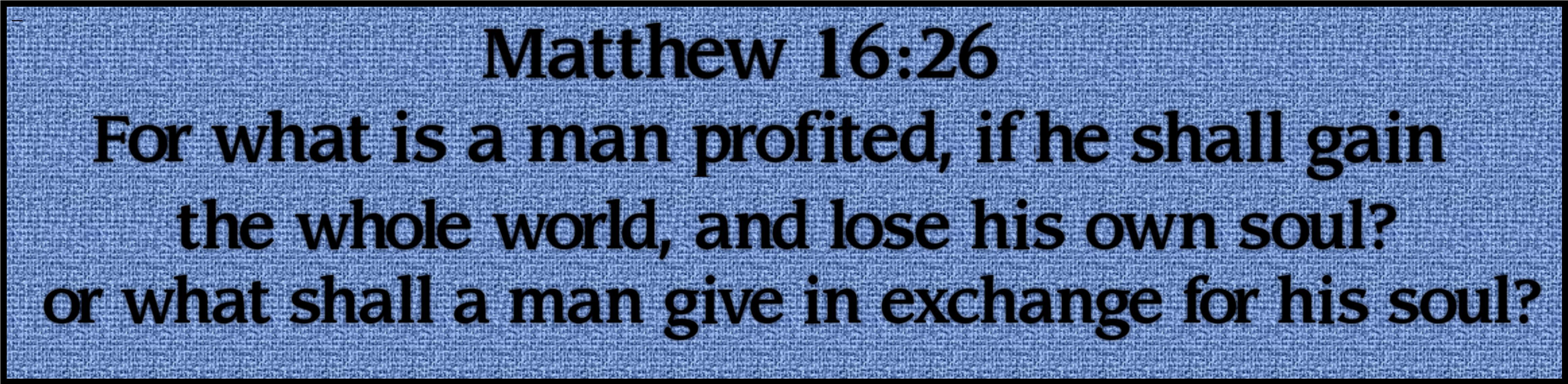 matthew 1626