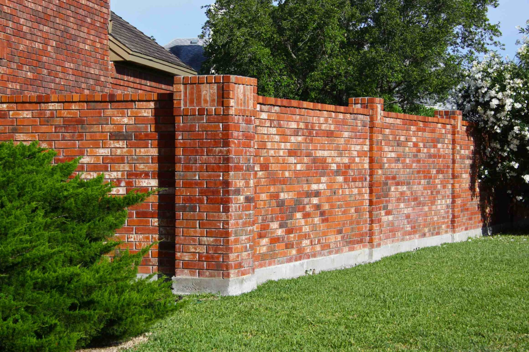 brick fence decorative blocks brick wall fence designs brick