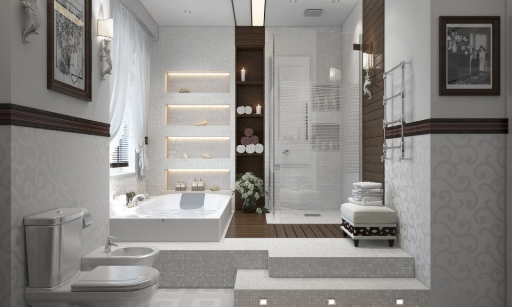 Contemporary-bathroom-in-white