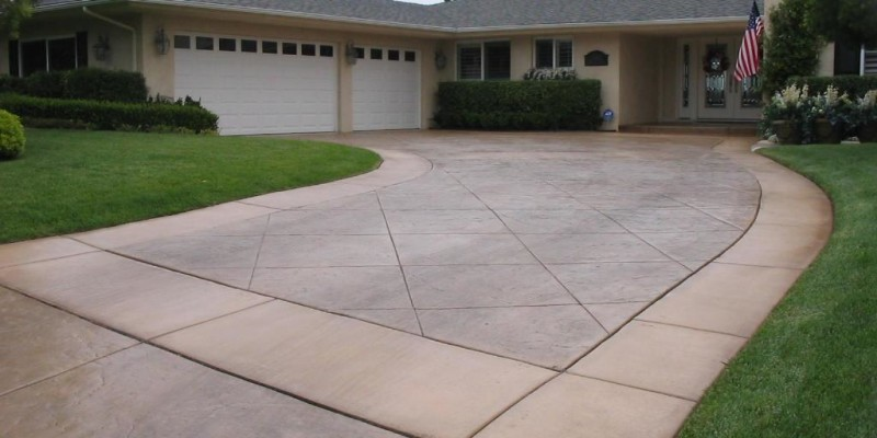 D.E. Contreras Construction - San Diego -  Stamped Concrete Driveway_full