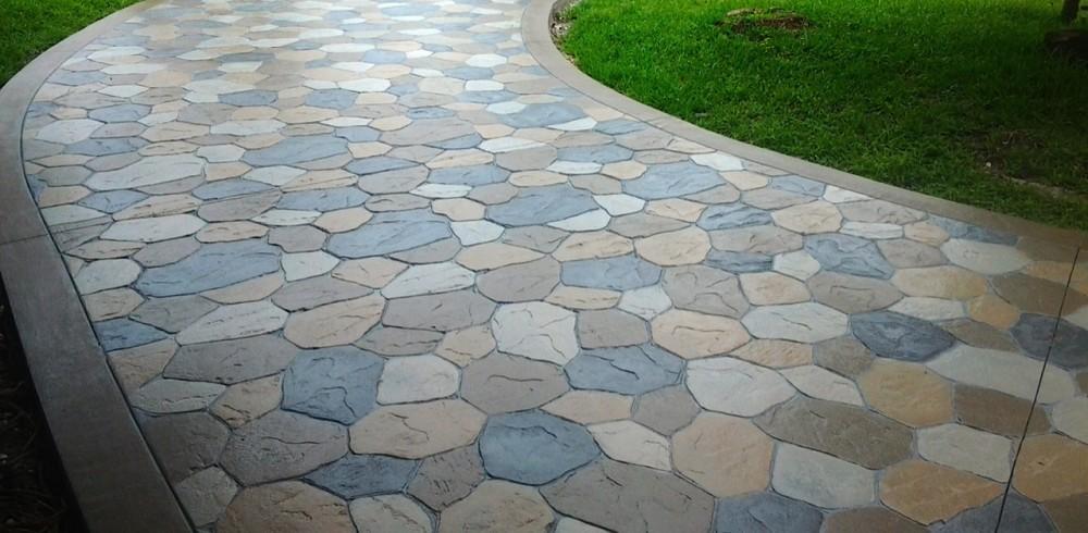 Stamped-Concrete-Driveway