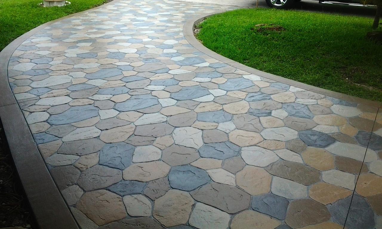 Design concrete driveway jmarvinhandyman for Adoquines para jardin