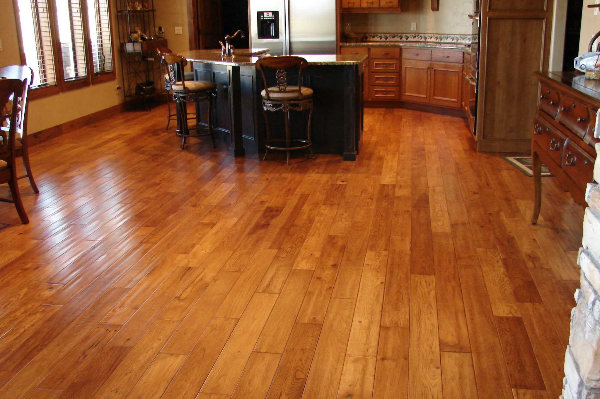 Wood Tile Floor Kitchen Wood Floors Tile Linoleum Jmarvinhandyman