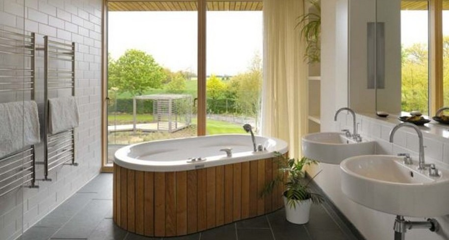 dark-floor-wooden-deatil-on-modern-white-oval-tub-915x803