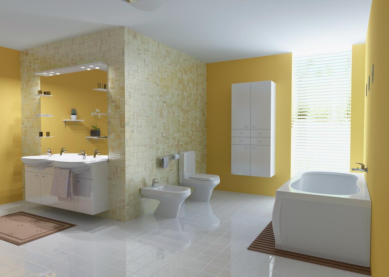 ... Fancy Yellow Bathroom ...