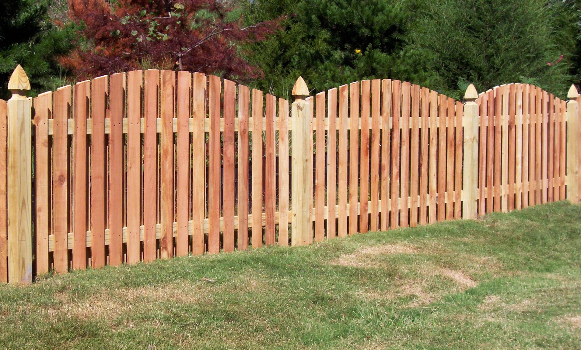 Wood fences jmarvinhandyman Wood garden fence designs