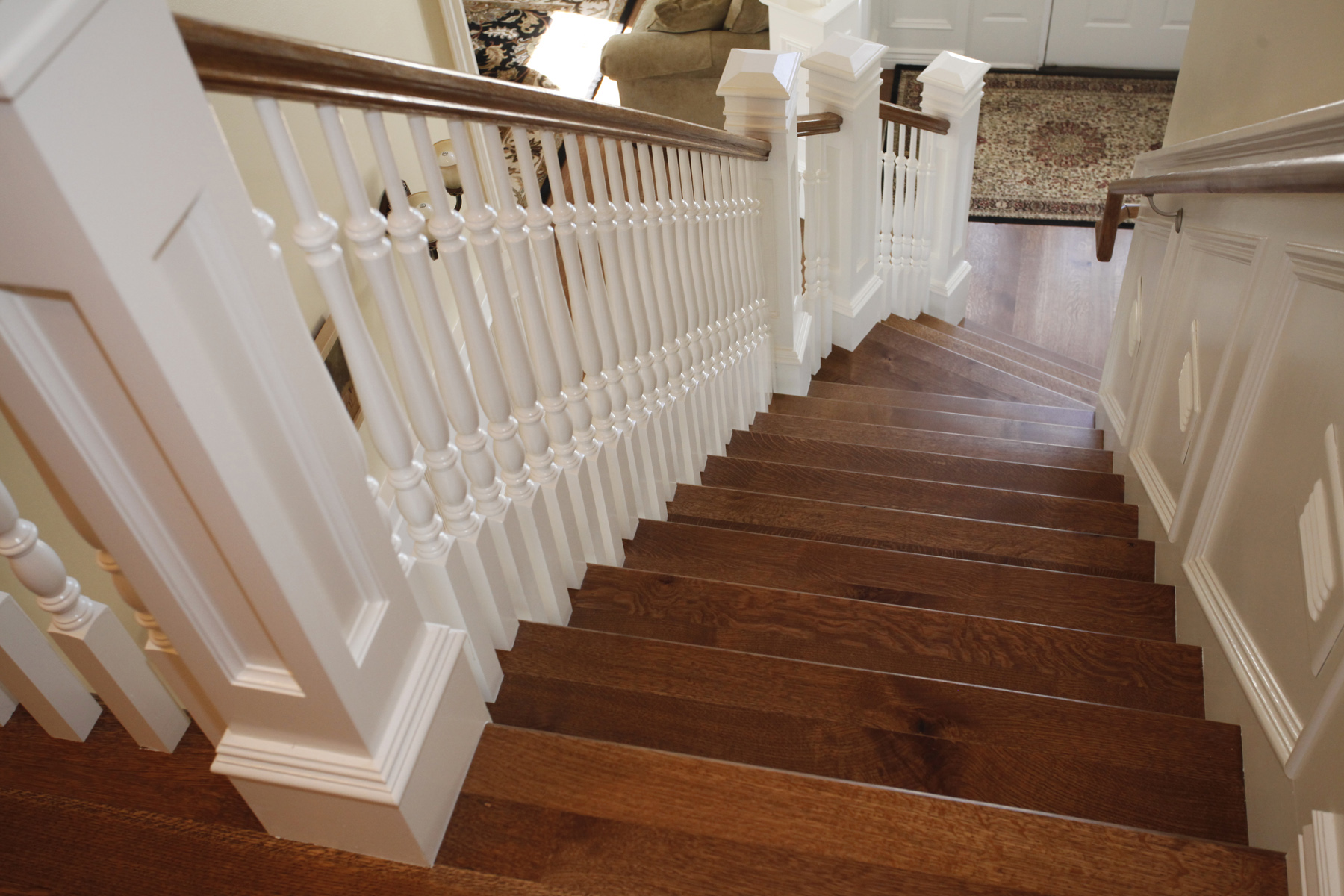 Double Smoked Oak Stairs 1024x678; Hardwood Floor Stairs1
