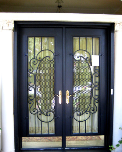 interesting-wrought-iron-security-doors