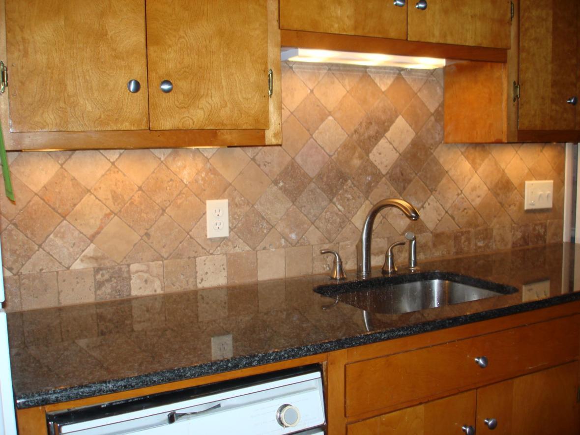 ... Kitchen Backsplash Travertine Travertine Kitchen Backsplash ...