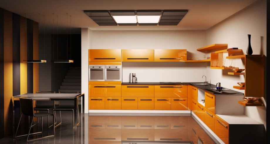 l-shape-orange-simple-kitchen-design