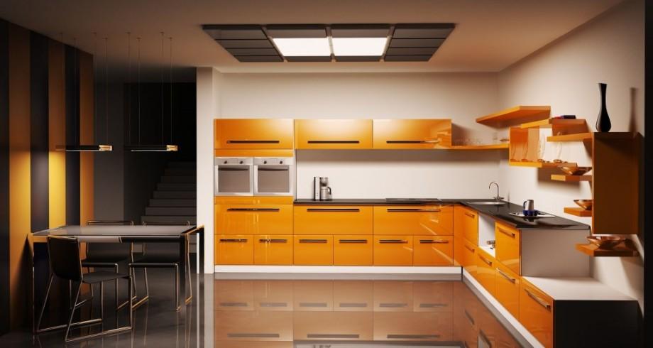 l-shape-orange-simple-kitchen-design