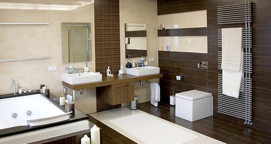 luxurious-bathroom-design-with-dark-wood-floor