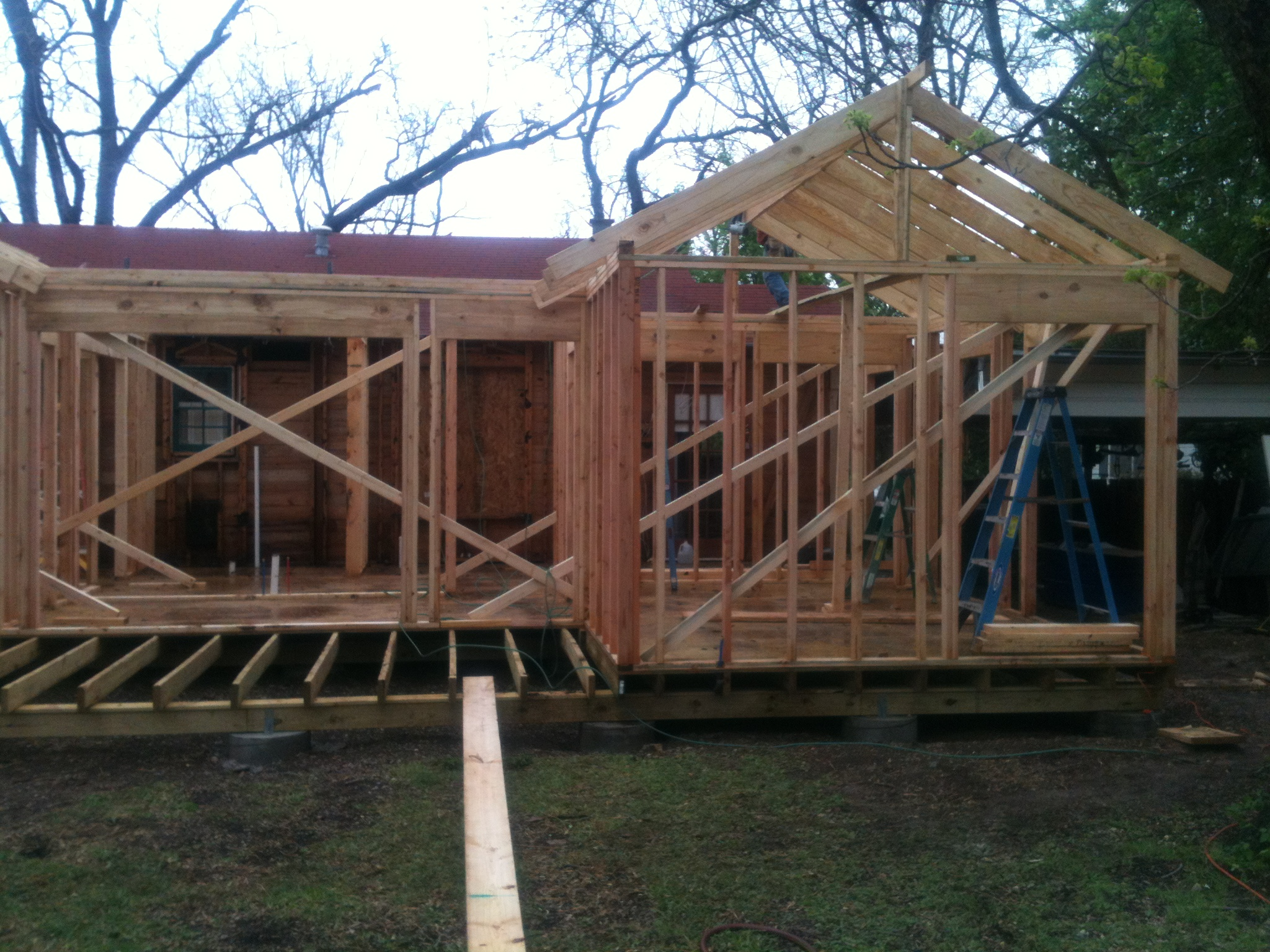 Framing jmarvinhandyman for Roof addition
