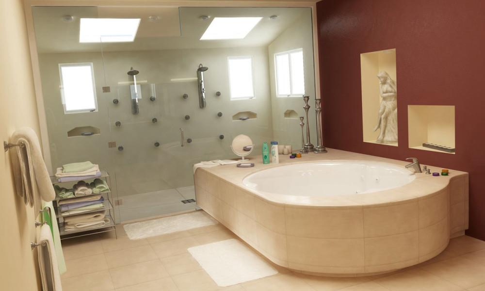 nice bathroom design ideas for large space home. Interior Design Ideas. Home Design Ideas