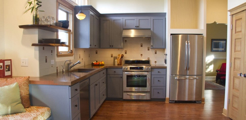 painting-kitchen-cabinet-color-ideas-gray-painted-cabinets