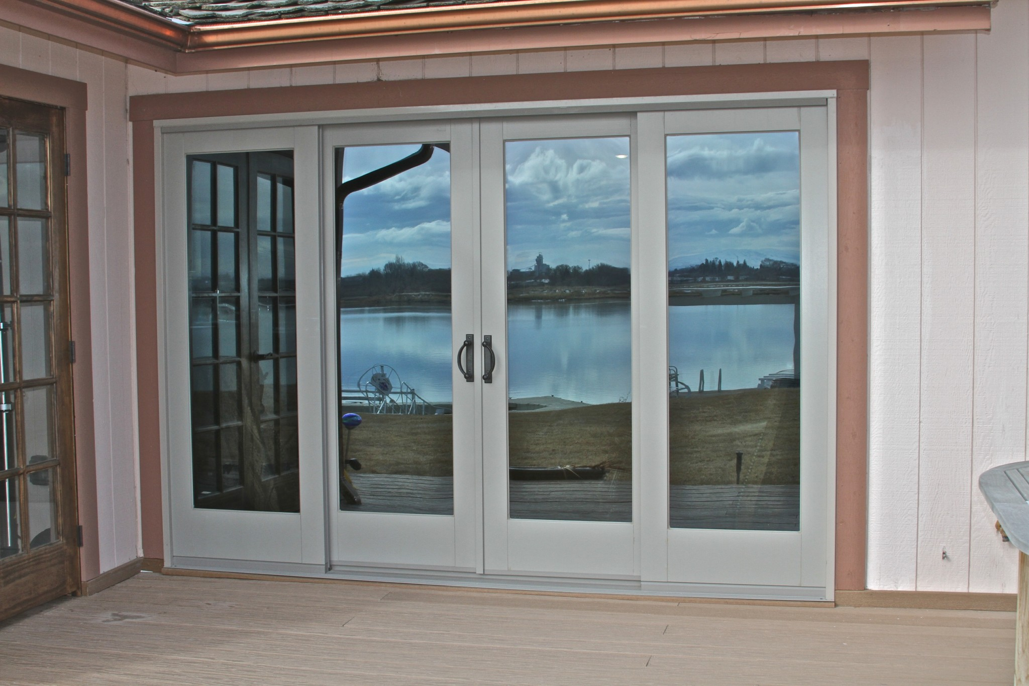 Windows jmarvinhandyman for Patio doors with windows that open