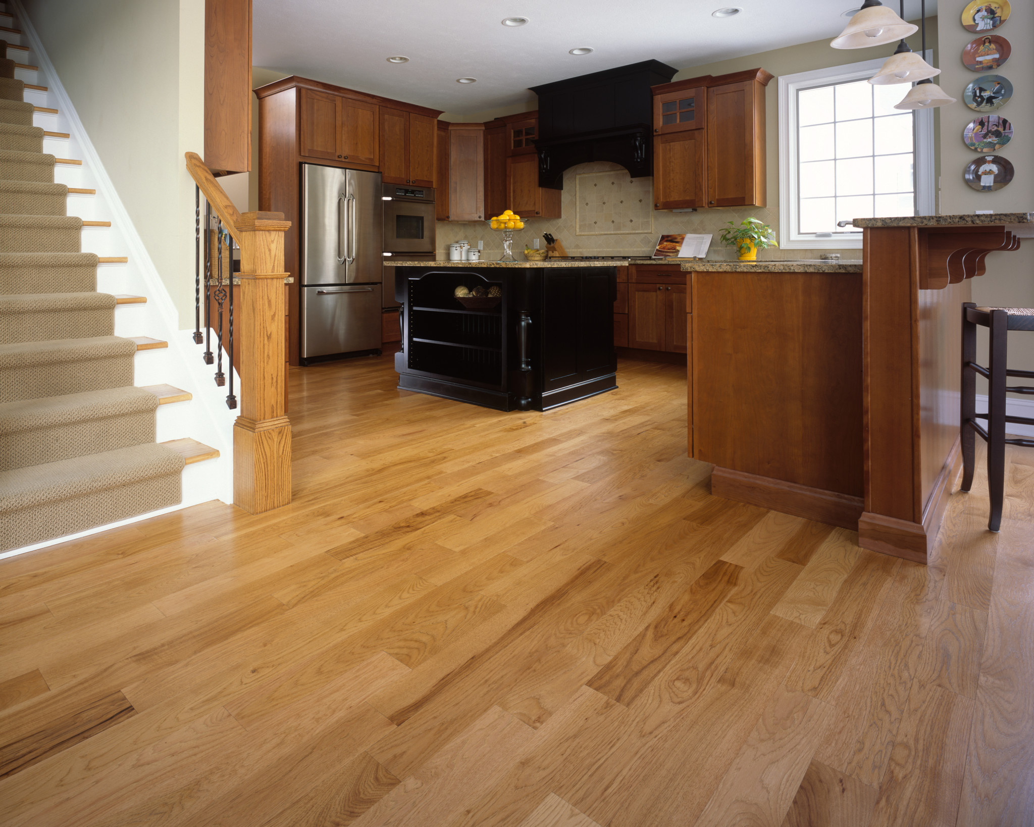 Wood Floors  Tile  Linoleum Jmarvinhandyman - Light wood floor kitchen