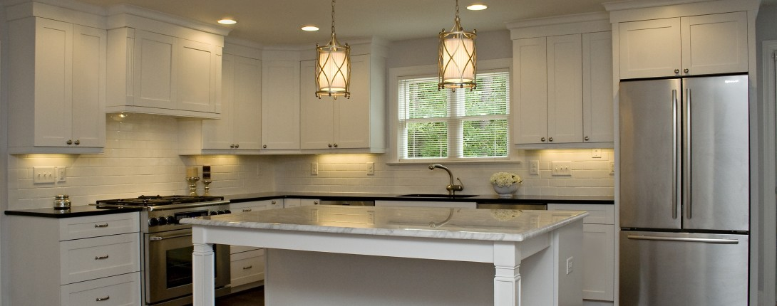 Elegant White Kitchen Architecture Design Pictures